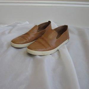 Vince 7 Leather Slip On Sneakers 37 Shoes